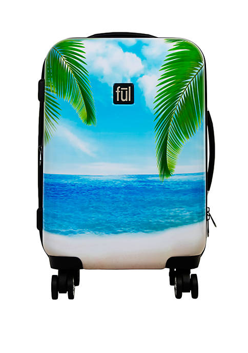 ful® Printed Tropical Beach Rolling Luggage