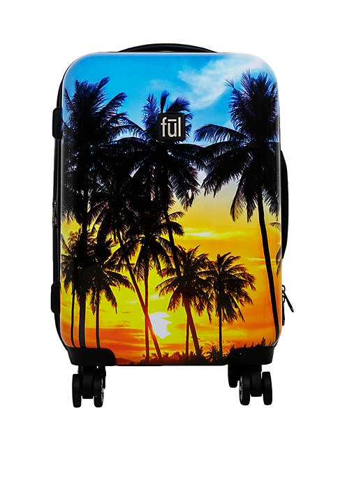 ful® Printed Tropical Palm Sun Rolling Luggage