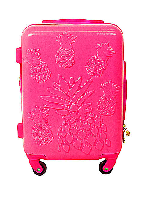 Pineapple Hardside Rolling Luggage Suitcase