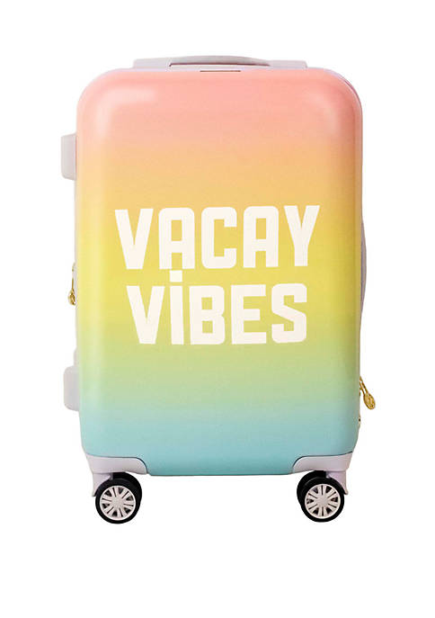 21 in Vaycay Vibes Hardside Rolling Luggage Suitcase