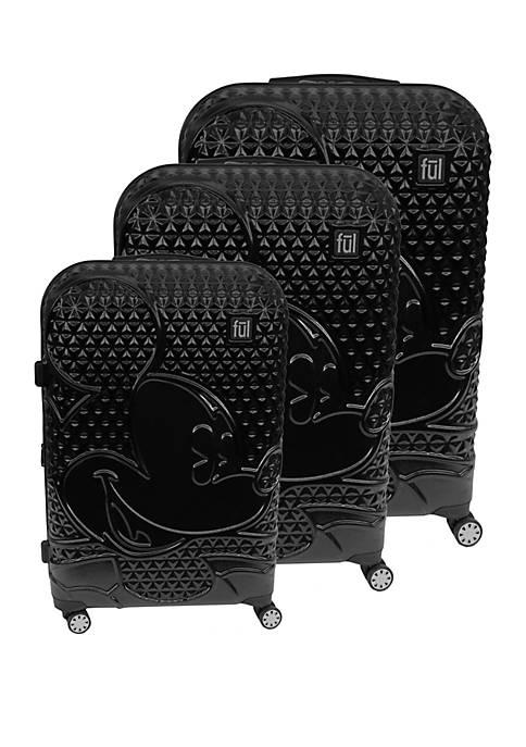 ful® Textured Mickey 3-Piece Luggage Set