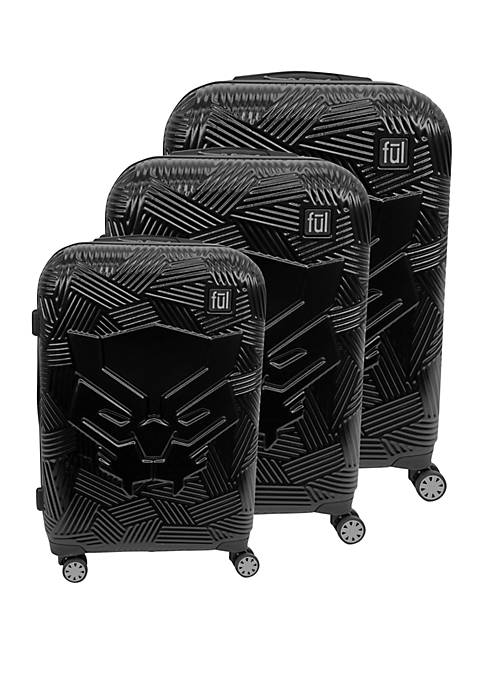 ful® Black Panther Icon Molded 3-Piece Luggage Set