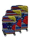 Black Panther Tribal Art 3 Piece Luggage Set
