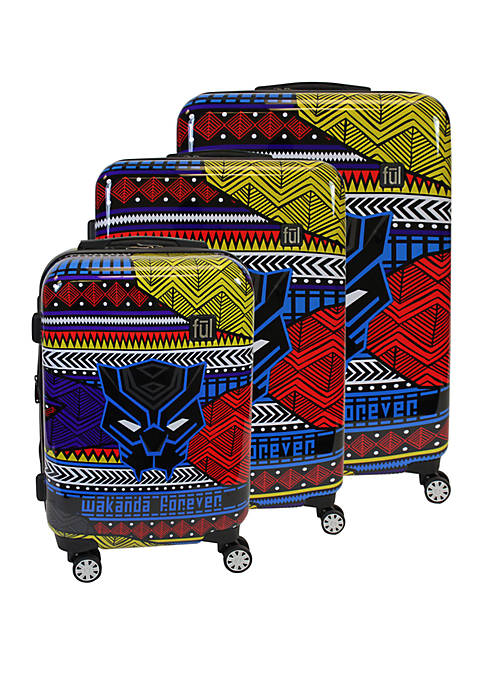 ful® Black Panther Tribal Art 3 Piece Luggage