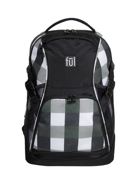 ful® Marlon 19 Inch Laptop Backpack, Black/White