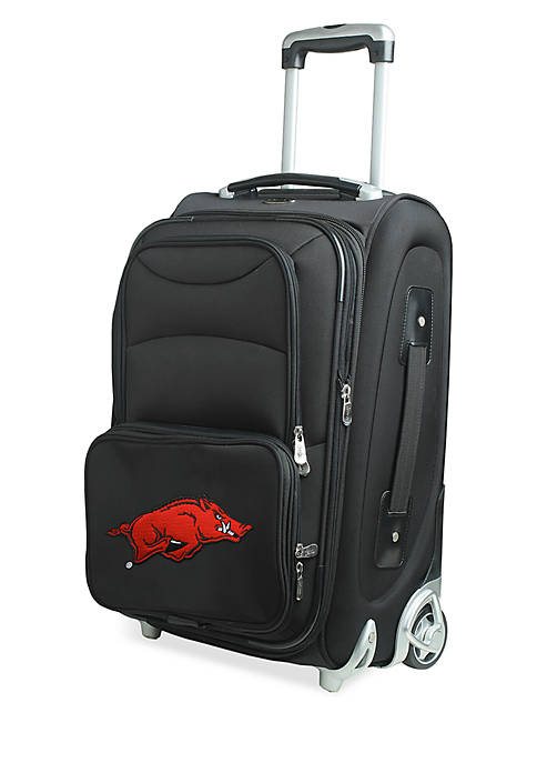 Denco NCAA Arkansas Softsided Luggage Carry-on Rolling in Black