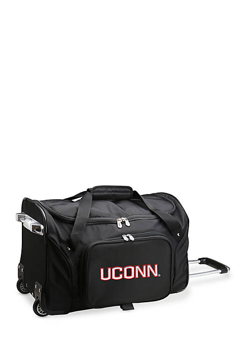 Denco NCAA Connecticut Rolling Bottom Duffel