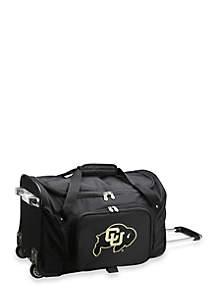 Denco NCAA Colorado 22-in. Rolling Bottom Duffel
