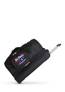 Denco NCAA DePaul Wheeled Duffel Nylon Bag