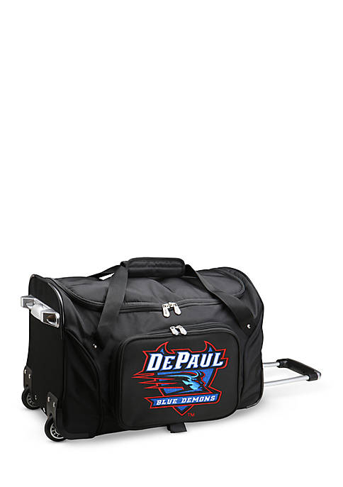 Denco NCAA DePaul 22-in. Wheeled Duffel Nylon Bag