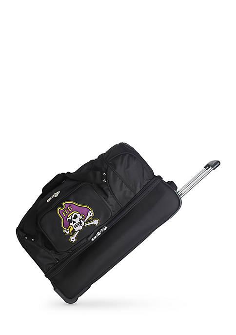 NCAA East Carolina Wheeled Duffel Nylon Bag