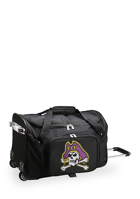 Denco NCAA East Carolina Wheeled Duffel Nylon Bag