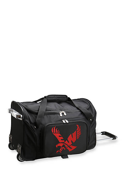 Denco NCAA Eastern Washington Wheeled Duffel Nylon Bag
