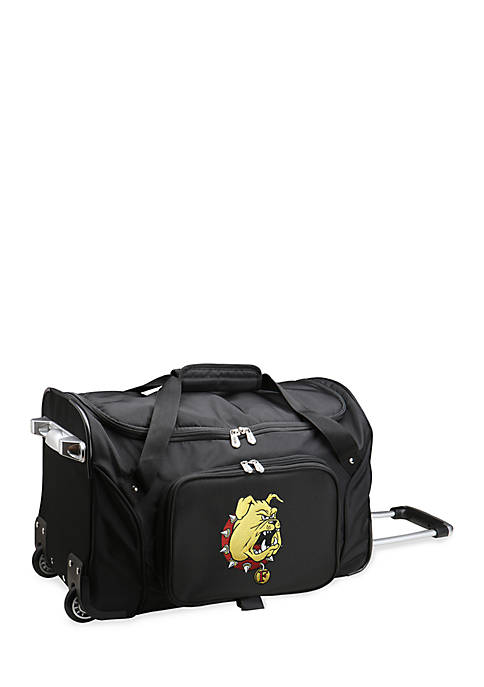 Denco NCAA Ferris State 22-in. Rolling Bottom Duffel
