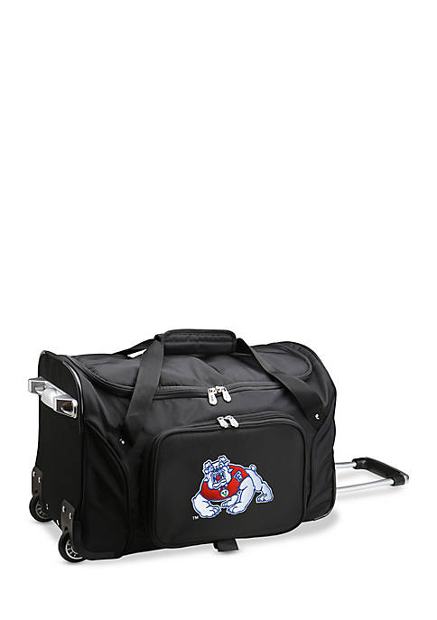 Denco NCAA Fresno State Wheeled Duffel Nylon Bag
