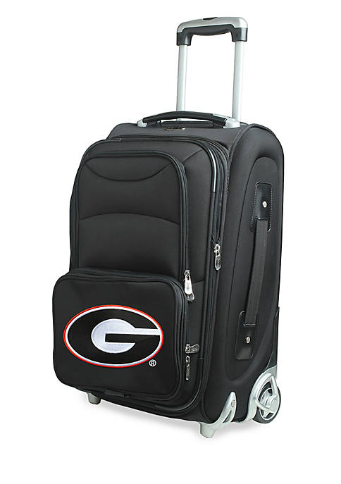 Denco NCAA Georgia Luggage Carry-On 21in Rolling Softside
