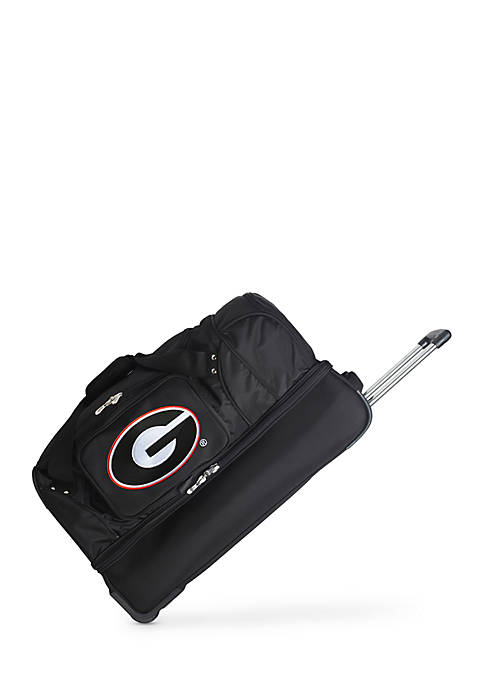 Denco NCAA Georgia 22-in. Wheeled Duffel Nylon Bag