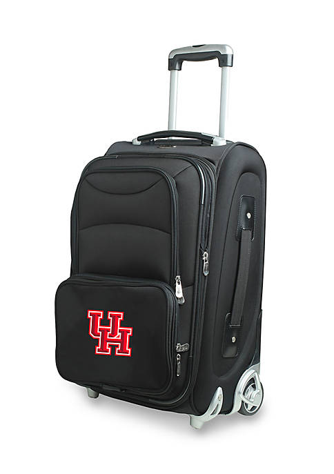 Denco NCAA Houston Wheeled Duffel Nylon Bag