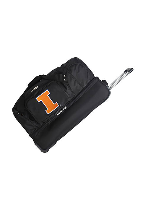 NCAA Illinoiis Wheeled Duffel Nylon bag