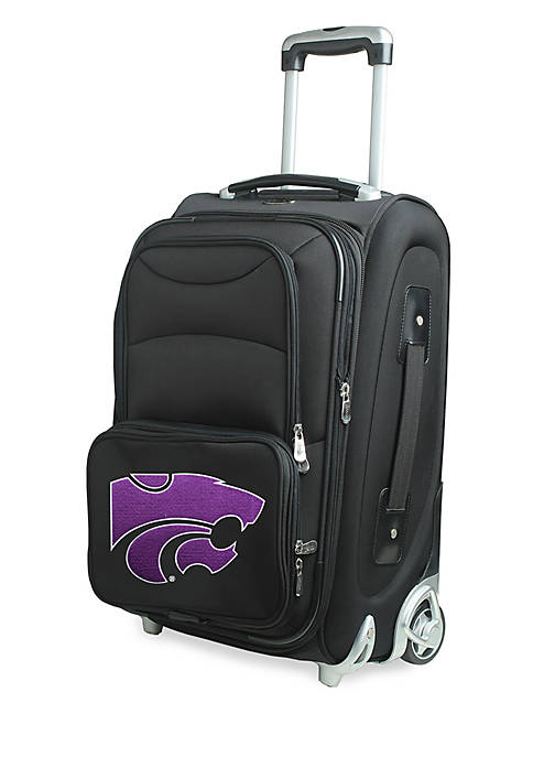 Denco NCAA Kansas State Luggage Carry-On Rolling Softside