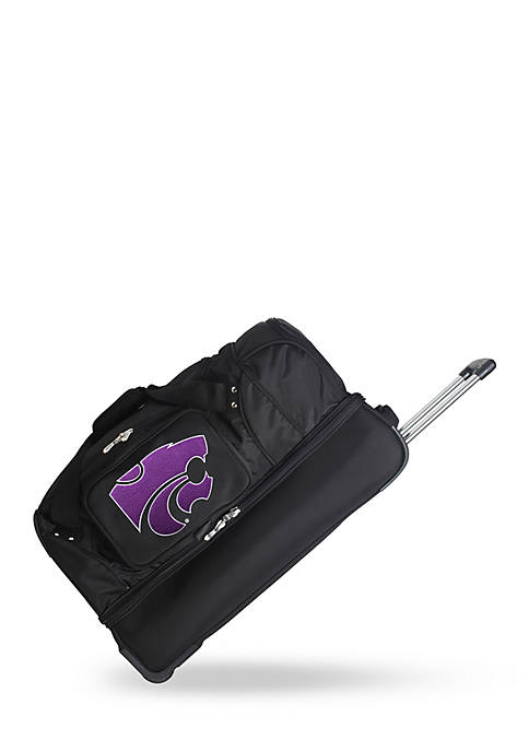 Denco NCAA Kansas State Wheeled Duffel Nylon Bag