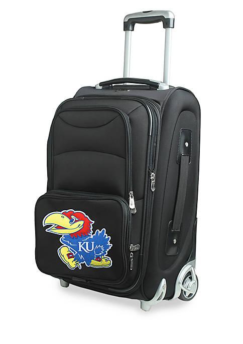 NCAA Kansas Luggage Carry-On Rolling Softside Nylon