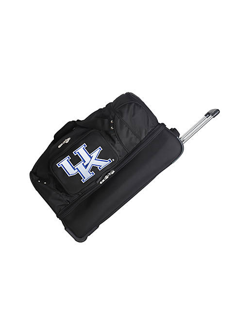 Denco NCAA Kentucky Wheeled Duffel Nylon Bag
