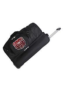 Denco NCAA Missouri State Wheeled Duffel Nylon Bag