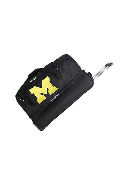 Denco NCAA Michigan Rolling Bottom Duffel