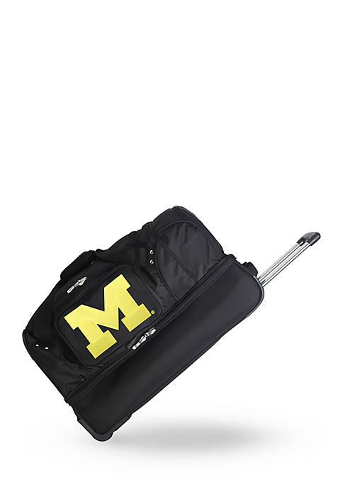 NCAA Michigan Wheeled Duffel Nylon Bag