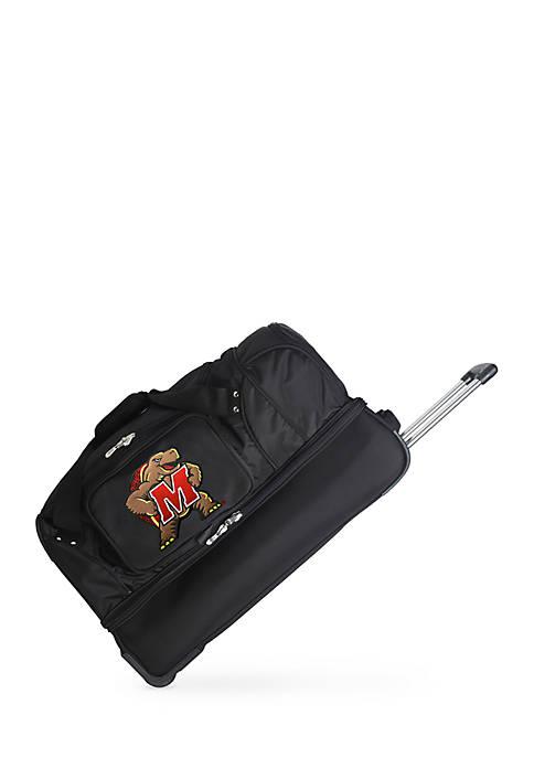 Denco NCAA Maryland 22-in. Wheeled Duffel Nylon Bag