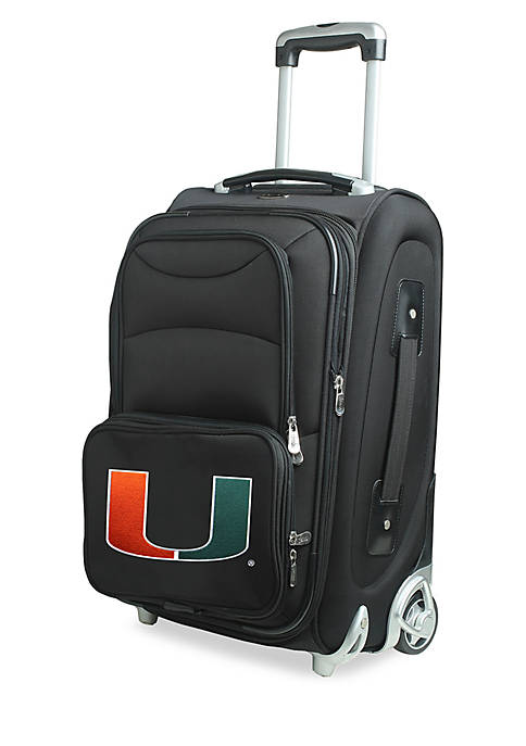 NCAA Miami 20-in. Softsided Luggage Rolling Carry-on