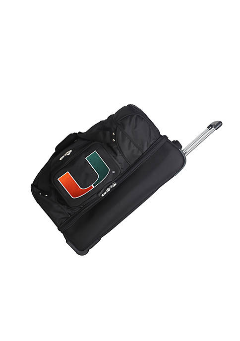 Denco NCAA Miami 27-in. Rolling Bottom Duffel