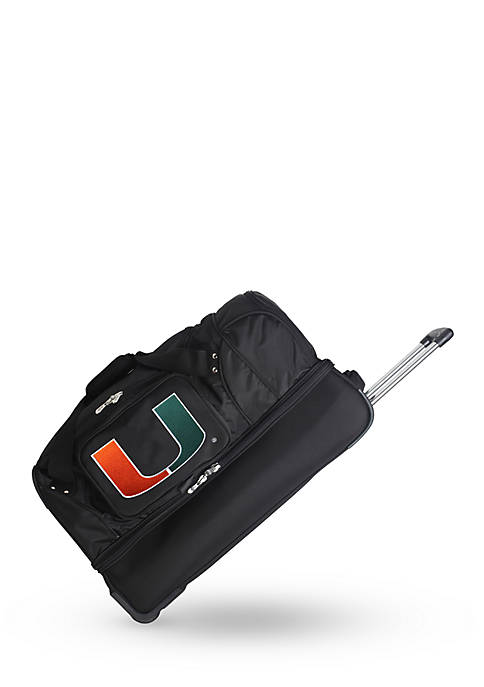Denco NCAA Miami 22-in. Wheeled Duffel Nylon Bag