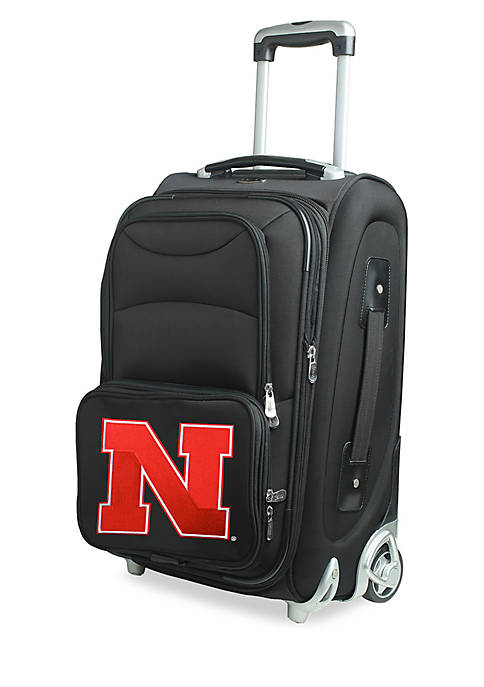 Denco NCAA Nebraska 20-in. Softsided Luggage Rolling Carry-On