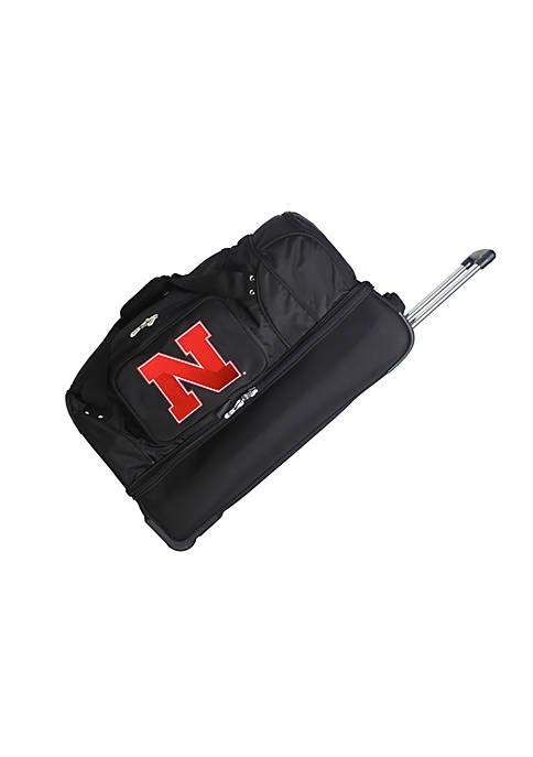 Denco NCAA Nebraska 27-in. Rolling Bottom Duffel