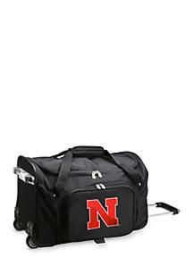 NCAA Nebraska 22-in. Wheeled Duffel Nylon Bag