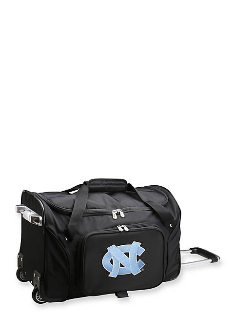 Denco NCAA North Carolina 22-in. Wheeled Duffel Nylon
