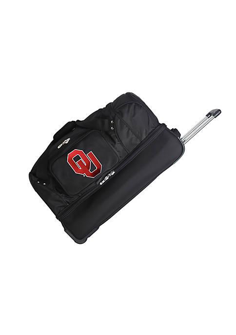 Denco NCAA Oklahoma 27-in. Wheeled Duffel Nylon Bag