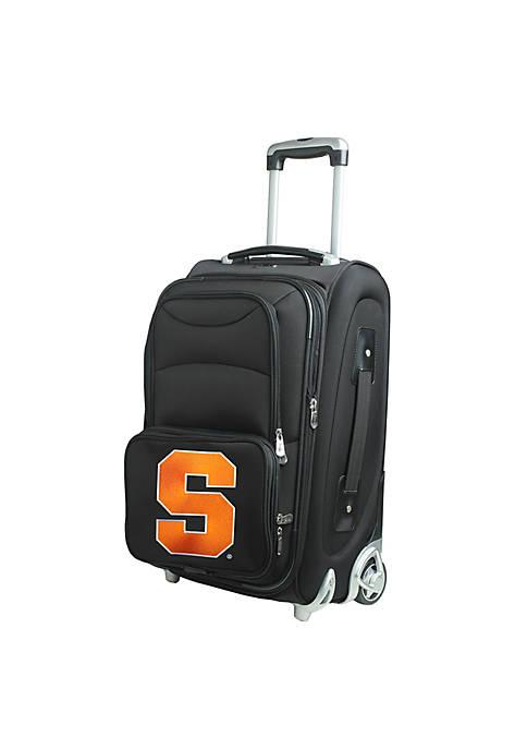 Denco NCAA Syracuse Luggage Carry-On Rolling Softside Nylon
