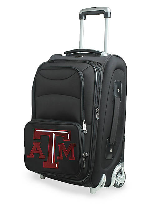 Denco NCAA Texas A&M Luggage Carry-On Rolling Softside