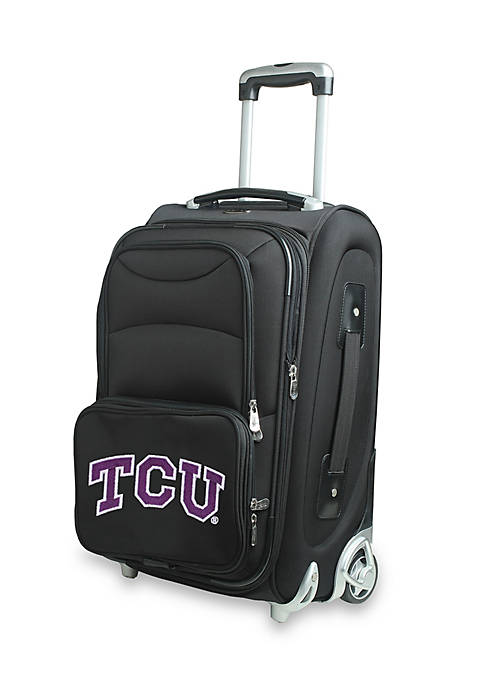 Denco NCAA Texas Christian Luggage Carry-On Rolling Softside