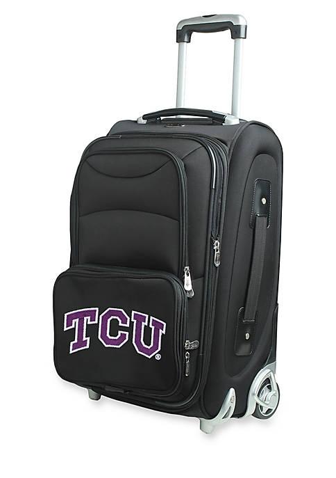 NCAA Texas Christian Wheeled Duffel Nylon Bag