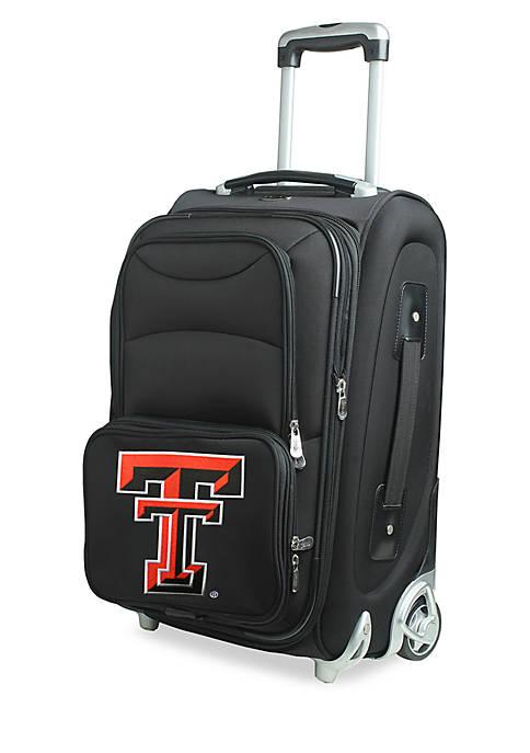 NCAA Texas Tech Luggage Carry-On Rolling Softside Nylon Bag