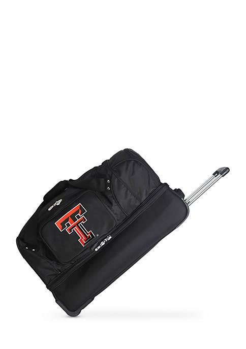 Denco NCAA Texas Tech Wheeled Duffel Nylon Bag