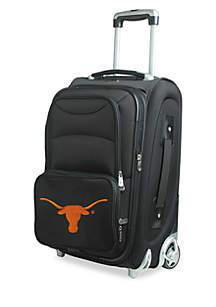 Denco NCAA Texas Luggage Carry-On Rolling Softside Nylon Bag