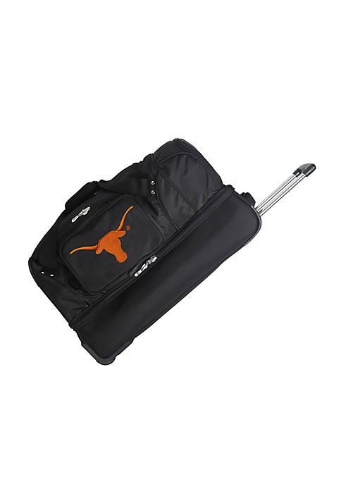 NCAA Texas Wheeled Duffel Nylon Bag