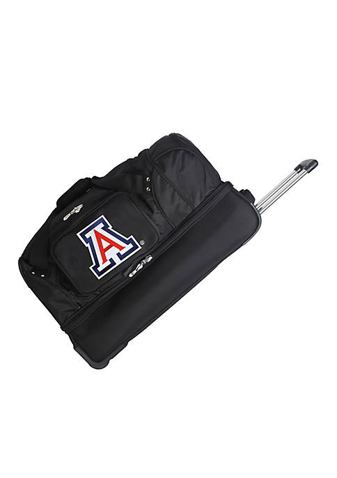 Denco NCAA Arizona Wheeled Duffel Nylon Bag