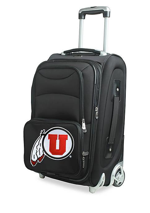 Denco NCAA Utah Luggage Carry-On Rolling Softside Nylon