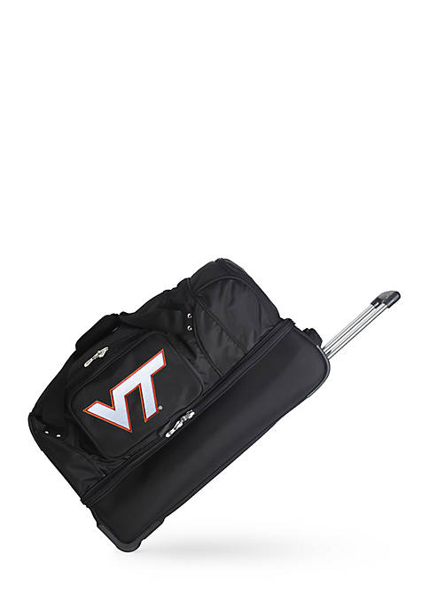 Denco NCAA Virginia Tech Wheeled Duffel Nylon Bag
